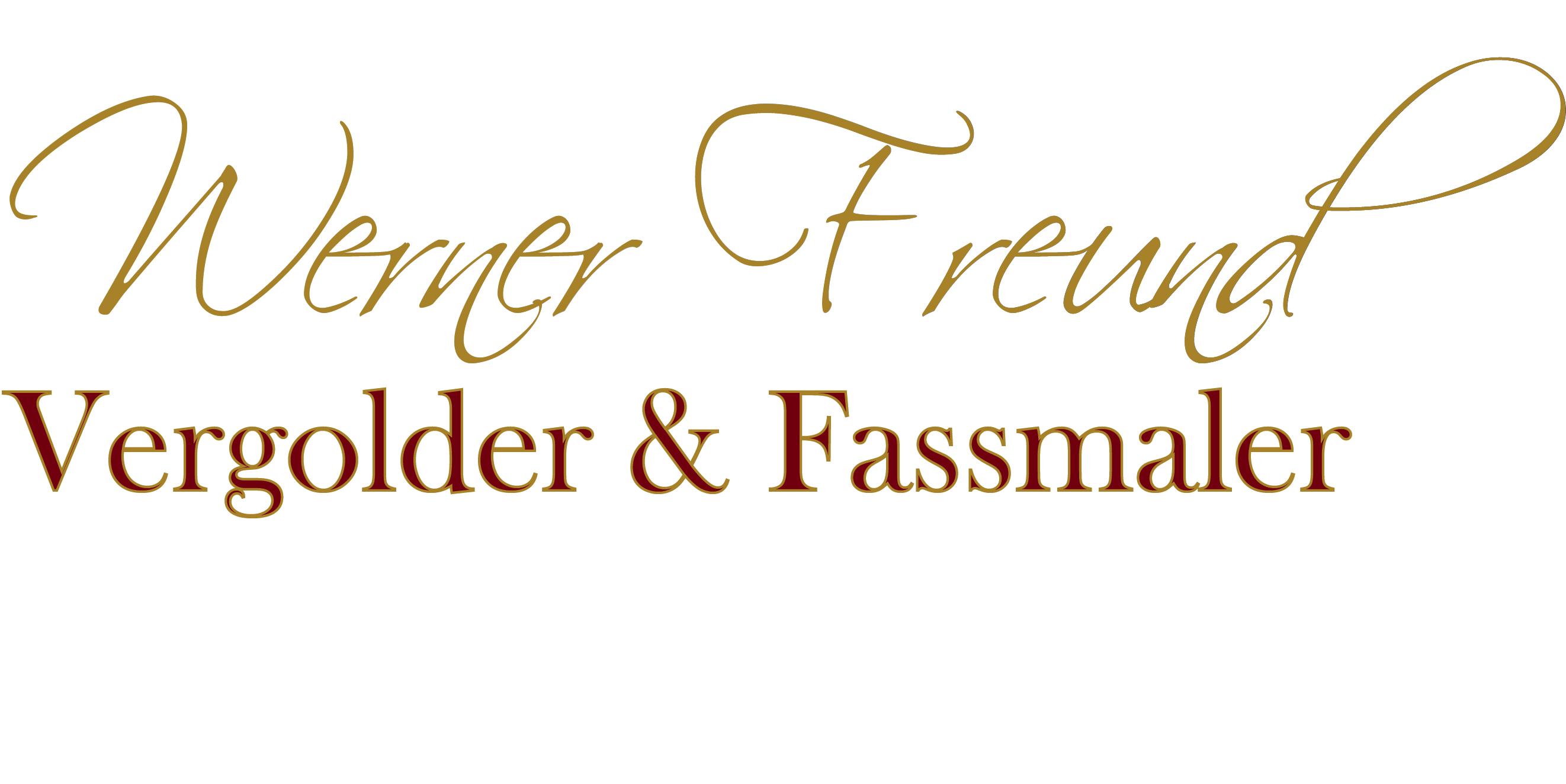 Vergolder und Fassmaler Werner Freund